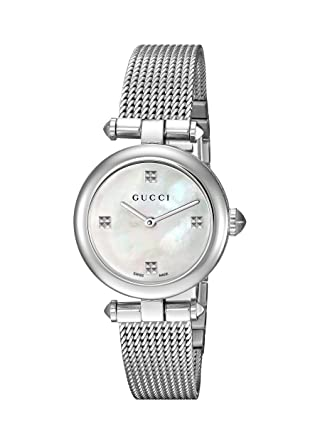 e9bf4b7a19f Image Unavailable. Image not available for. Color  Gucci Swiss Quartz  Stainless Steel Dress Silver-Toned Women s ...