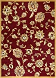"""Home Dynamix Optimum Malin 5'2"""" x7'2 Area Rug in Red"""