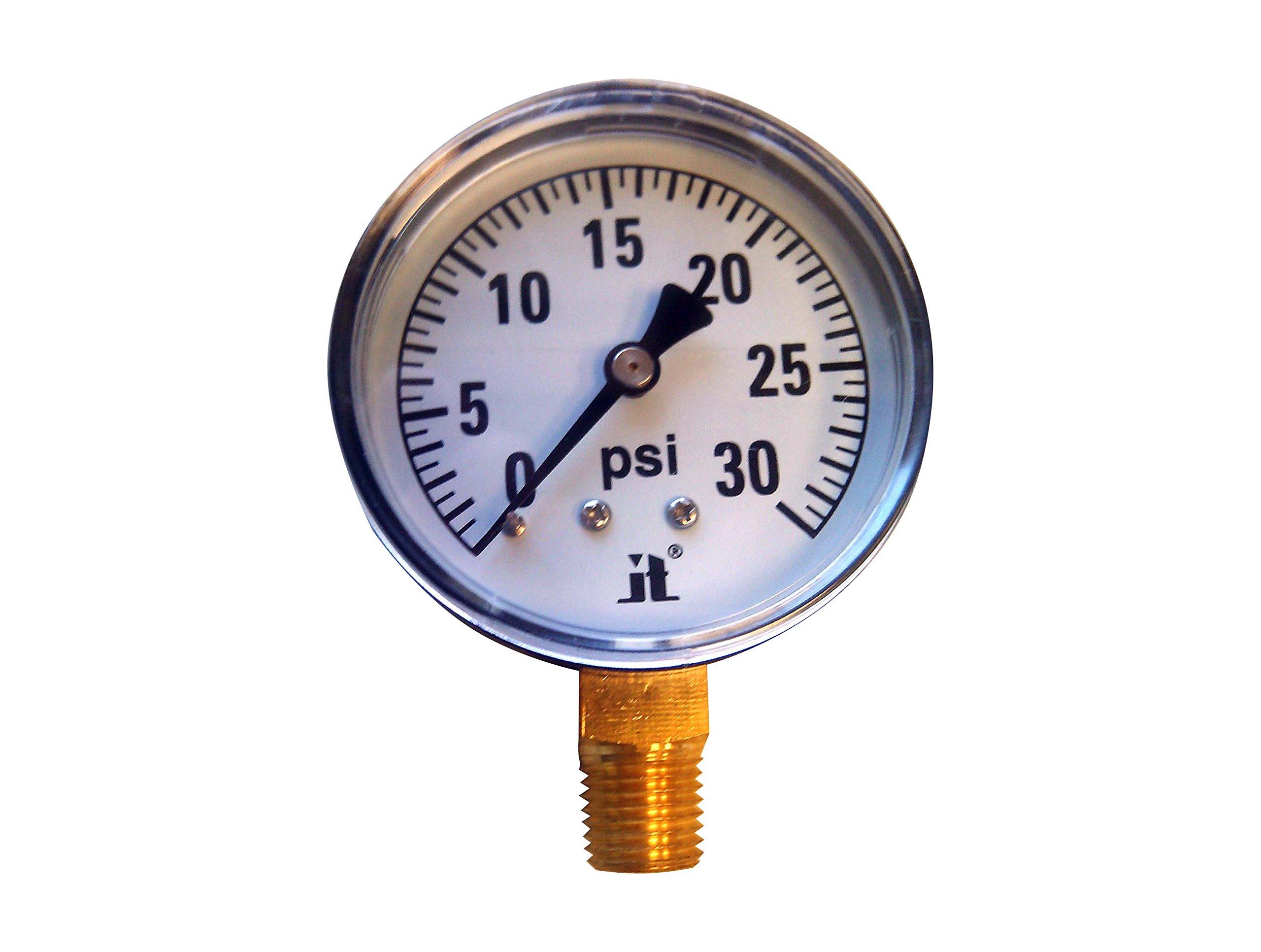 Zenport DPG30 Zen-Tek Dry Air Pressure Gauge, 30 PSI