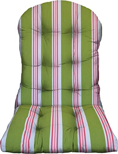 RSH D cor Outdoor Patio Tufted Adirondack Chair Cushion Weather Resistant Multi Color Stripe Choose Pillow Pad Color Kiwi Green Pink Stripe