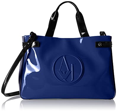 0953a7b2f Armani Jeans Color Blocked Eco Patent Shopper, Oceanblu/Dark Navy ...