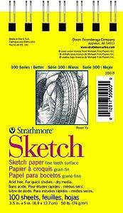 "Strathmore (350-3 STR-350-3 100 Sheet Sketch Pad, 3.5 by 5"", 3.5x5"