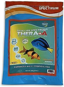 New Life Spectrum Thera+A Regular 1mm Pellet Fish Food for Fresh & Saltwater Fish 600g