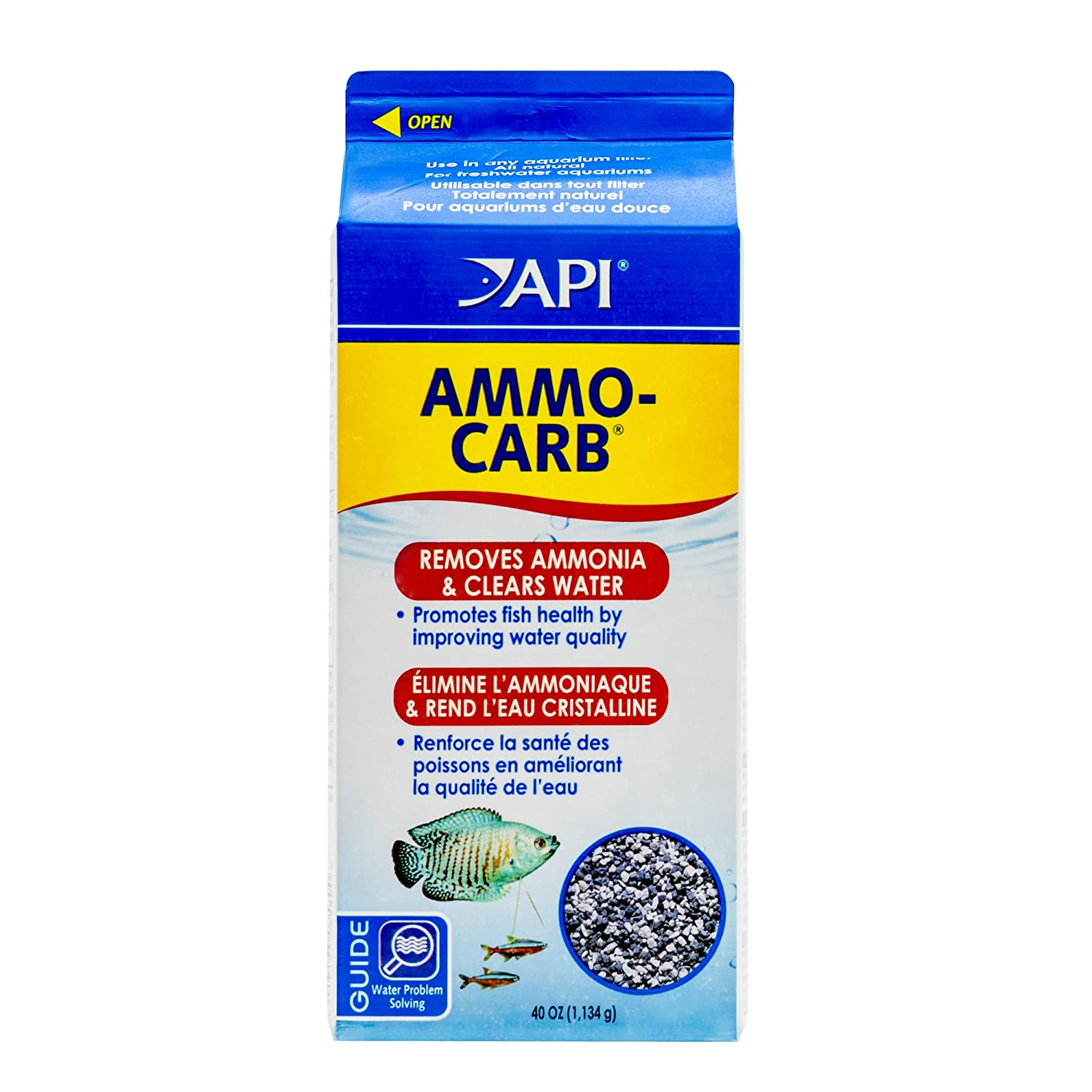 Amazon.com : API AMMO-CARB Aquarium Filtration Media .75-Cubic Feet Box : Aquarium Filter Accessories : Pet Supplies