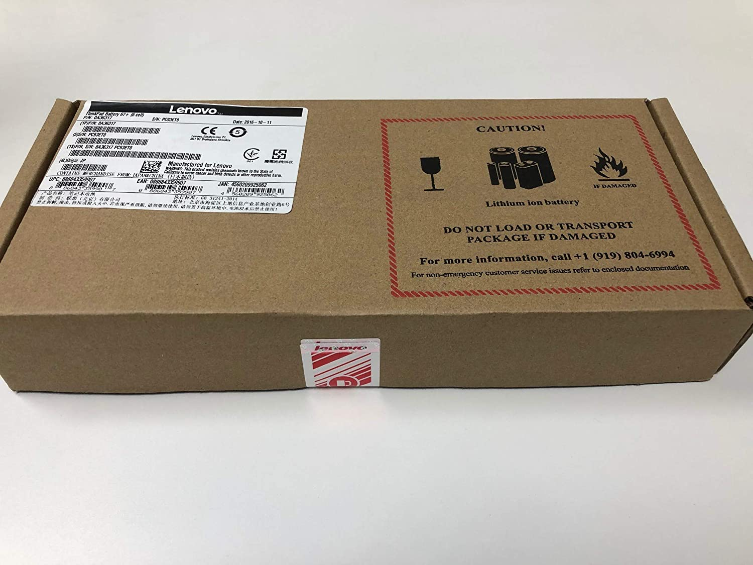Lenovo 6 Cell (0a36317) X220T Tablet and X230T Tablet Battery 67+ in The Factory Sealed Lenovo Retail Packaging
