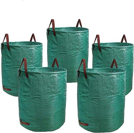 SODIAL 5 Piezas Bolsas de JardíN de 72 Galones Bolsas de JardineríA de Servicio Pesado, Piscina de CéSped Desechos de Hojas de JardíN Plantas de Basura Bolsa de Hierba: Amazon.es: Hogar