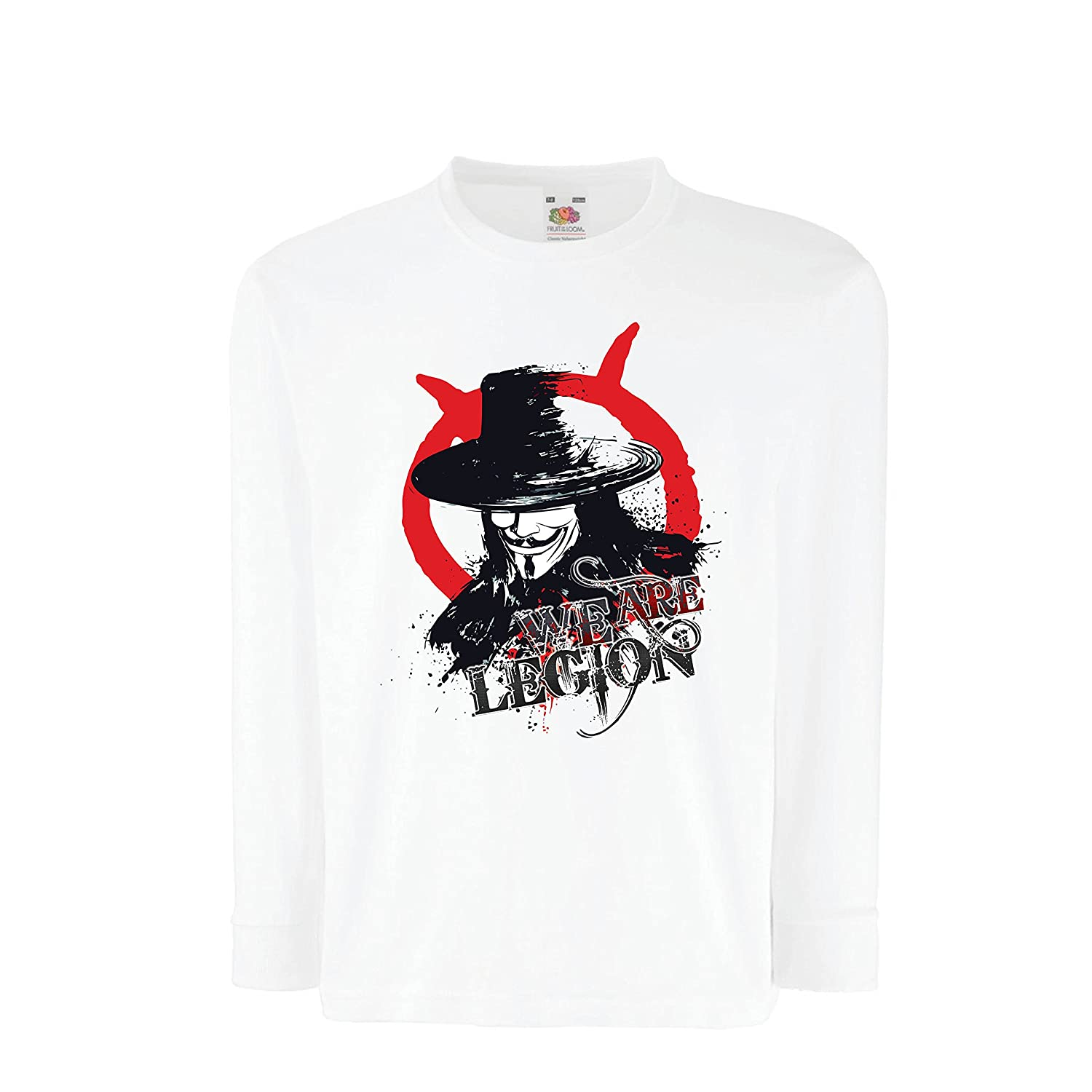 lepni.me Boys/Girls T-Shirt We are Legion - Vendetta - The Anonymous Mask, Hacker VACOM ADVARTAIZING Ltd