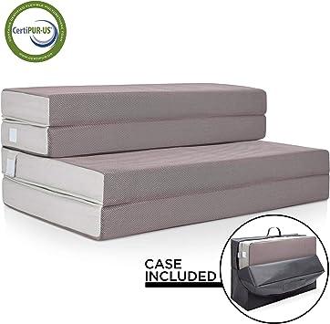 BCP Rollaway Twin XL Sized Mattress Guest Bed w// 4in Memory Foam Black