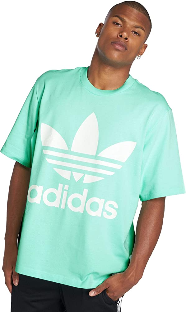 adidas Oversized tee Camiseta, Hombre, Verde (Clear Mint), S: Amazon.es: Ropa y accesorios