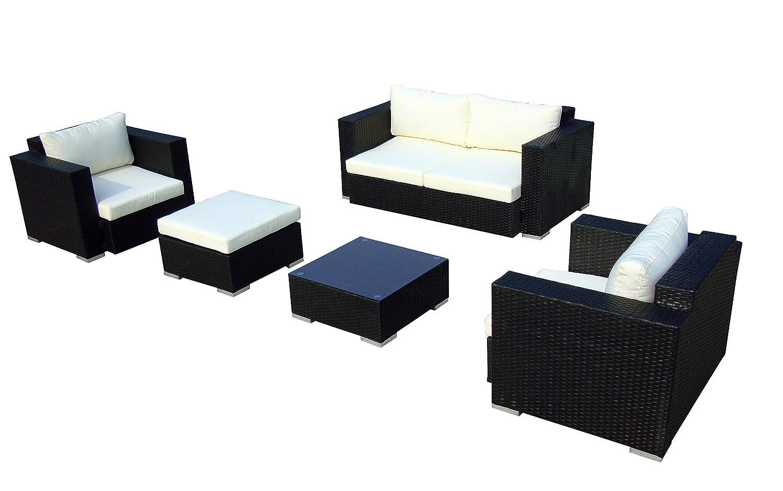 Baidani 10c00012.00001 Sitzgruppe Sun Dream, 5-teilig, schwarz