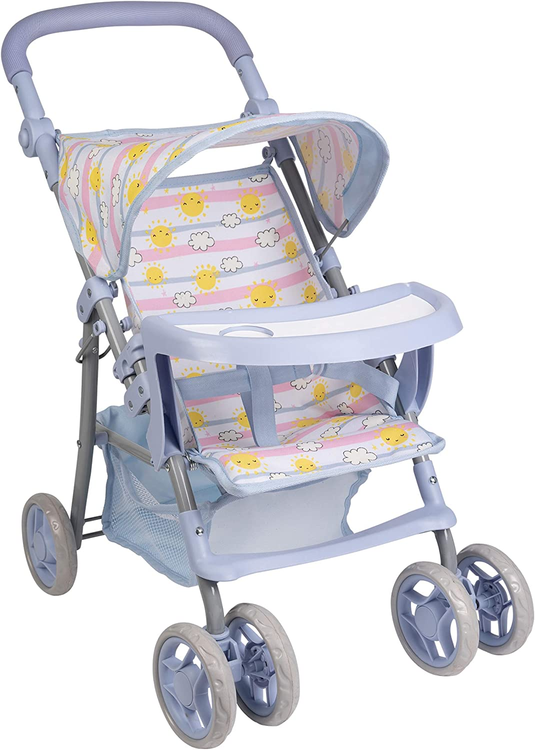 Adora Sunny Days Baby Doll Accessories - Interactive, Color Changing & Water Activated Baby Doll Stroller