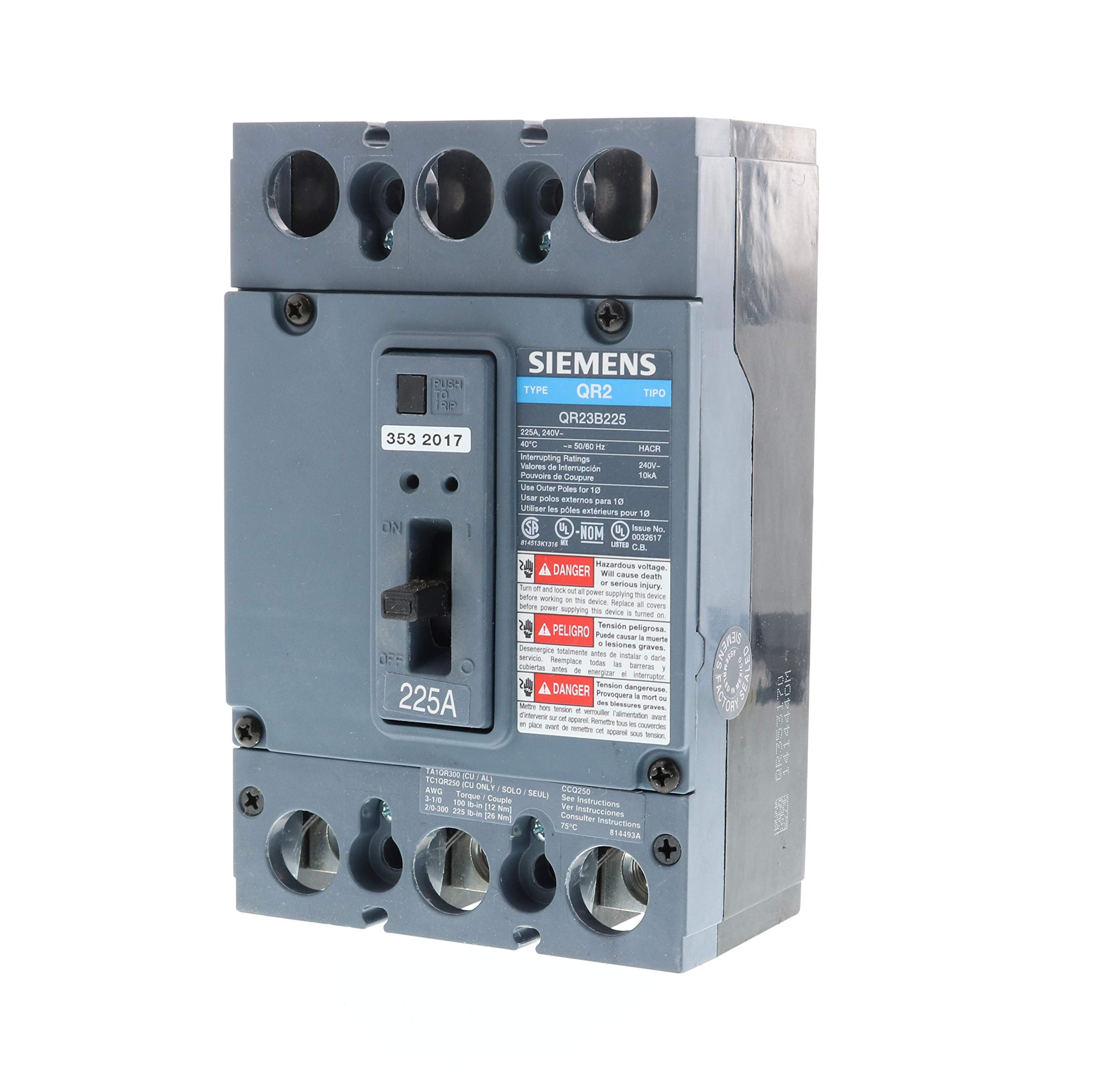 Siemens US2:QR23B225 Molded Case Circuit Breaker, Color by SIEMENS