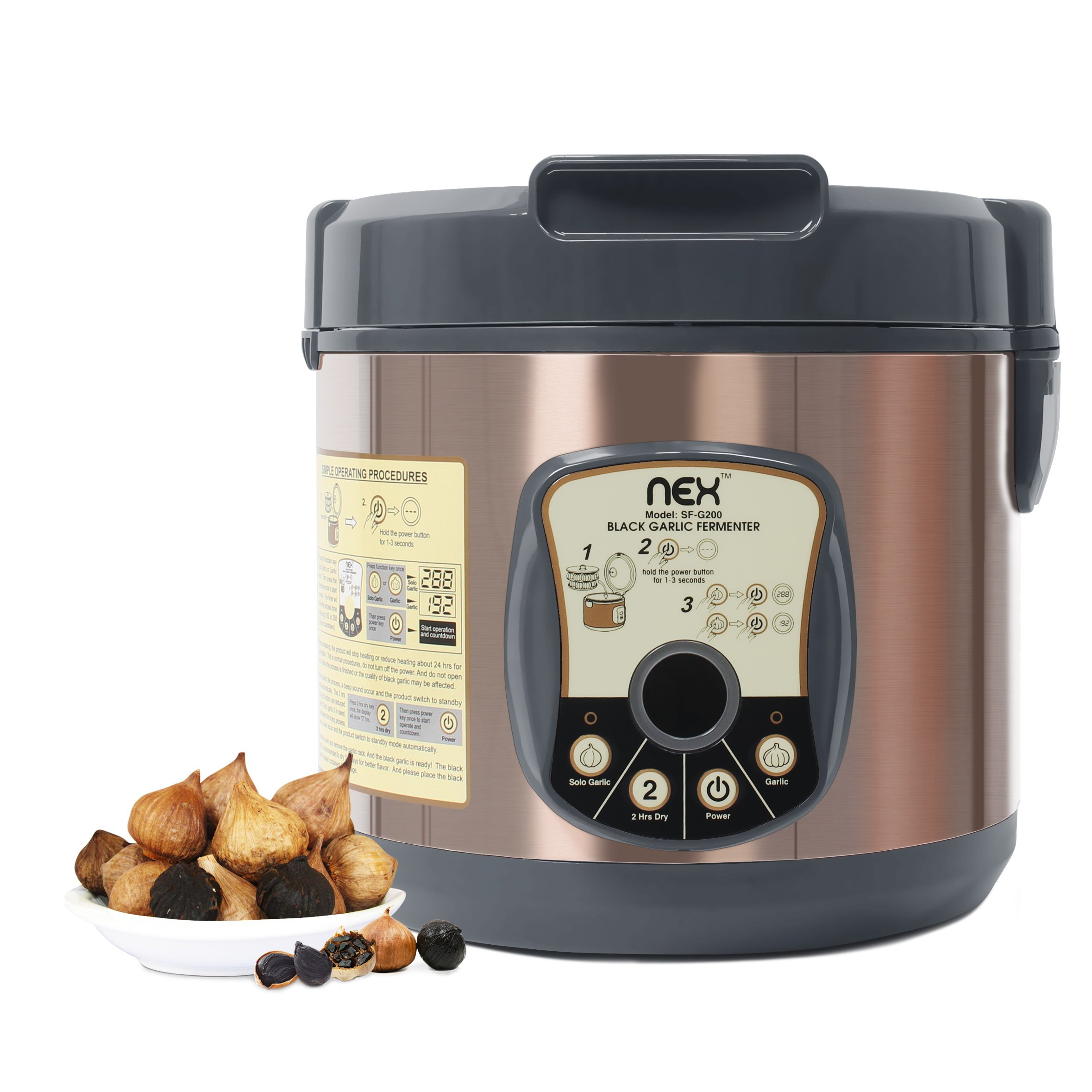 NEX NE-KF20B Black Garlic Fermenter, Bronze