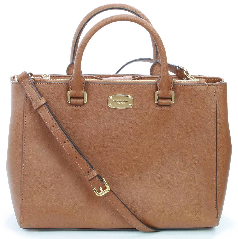 80dc94c500cc Michael Kors Women s Kellen Leather Medium Handbag Luggage  Handbags   Amazon.com