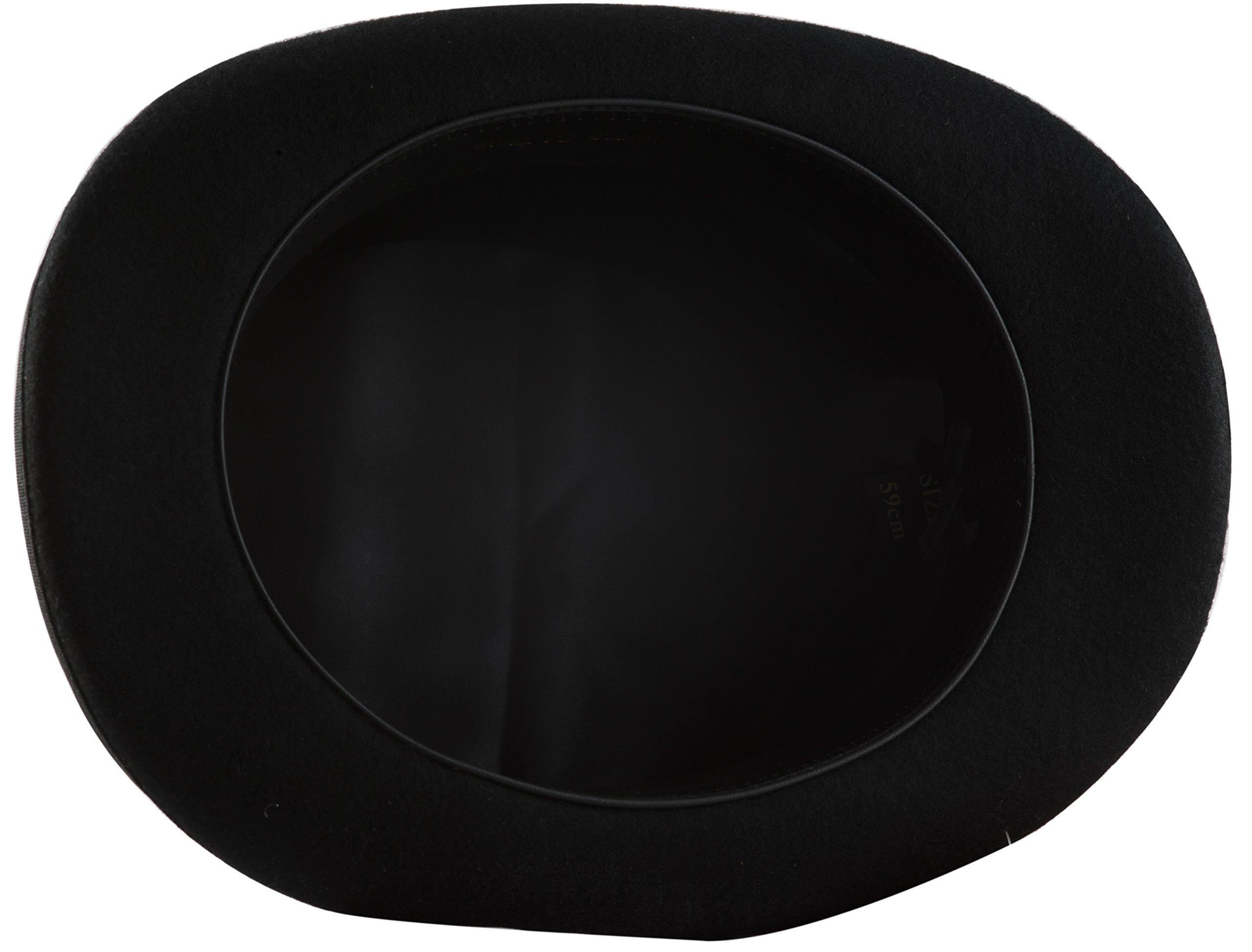 Black Top Hat, Lined Wool Felt 4