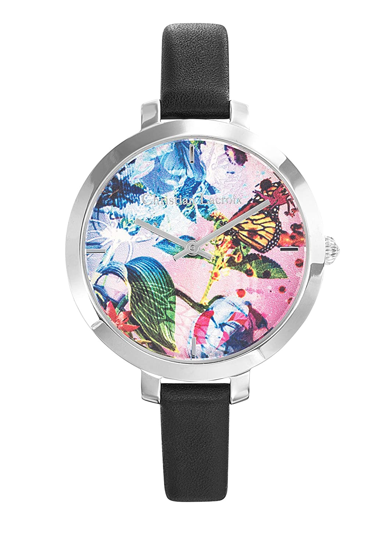 Zeigt Damen – Christian Lacroix – Flower Zone – Armband Leder Schwarz – 8009709