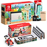 NS Console and Kart Holiday Combo: Switch Animal Crossing 32GB Console, Case, Mario Kart Live: Home Circuit Mario Set…