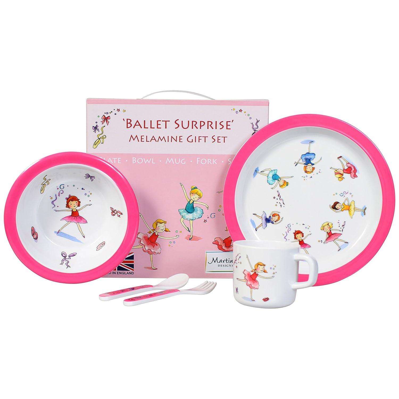 Martin Gulliver Designs Ballet Surprise 5 Piece Melamine Gift Set, Multicoloured, 23 x 23 x 7 cm BS05