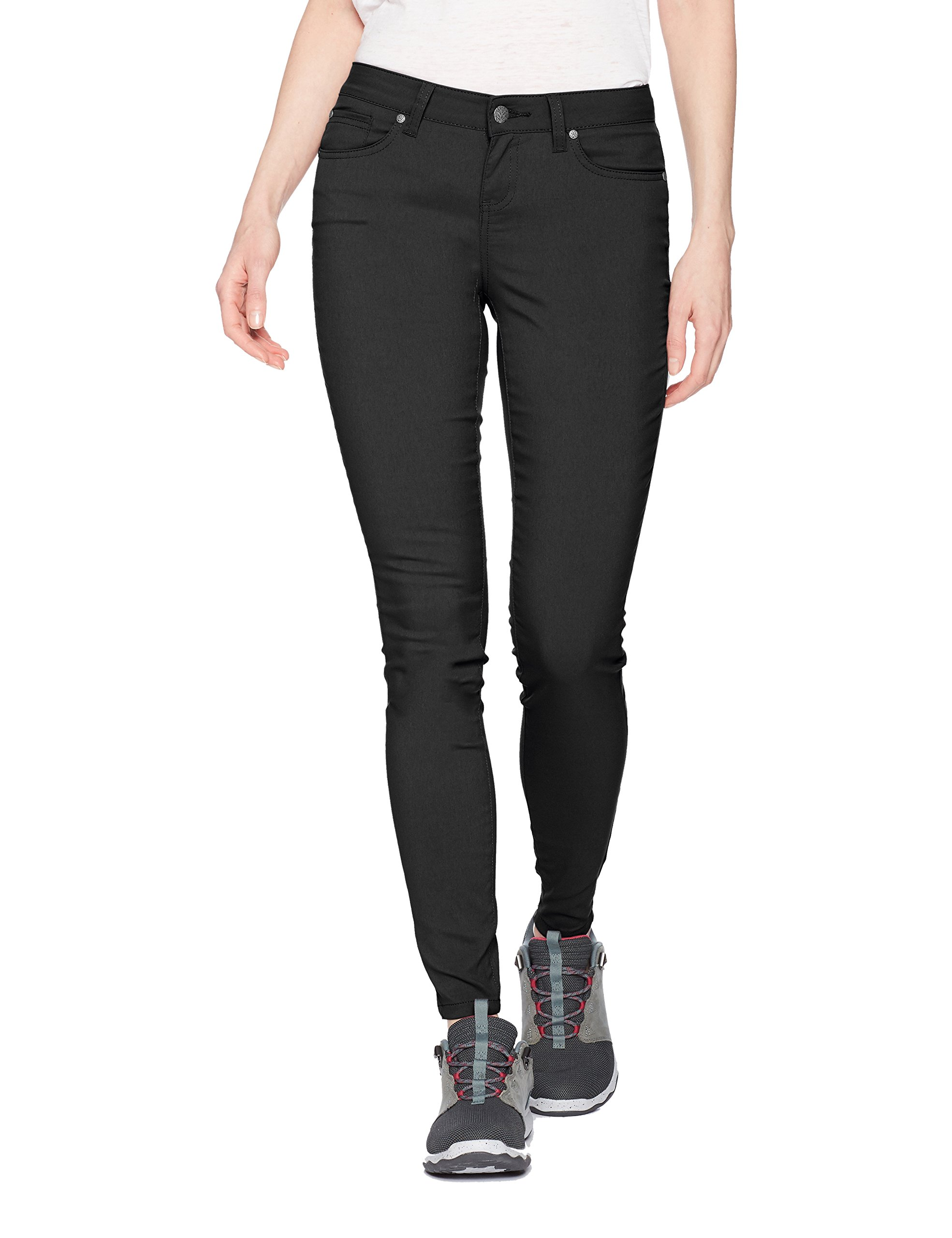 prAna Women's Briann Pant - Regular Inseam, Black, 12