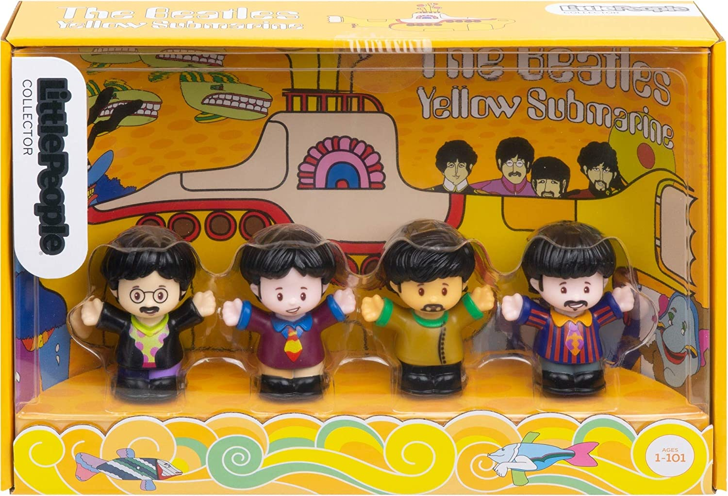 Fisher-Price The Beatles Yellow Submarine by Little People,Multi Color
