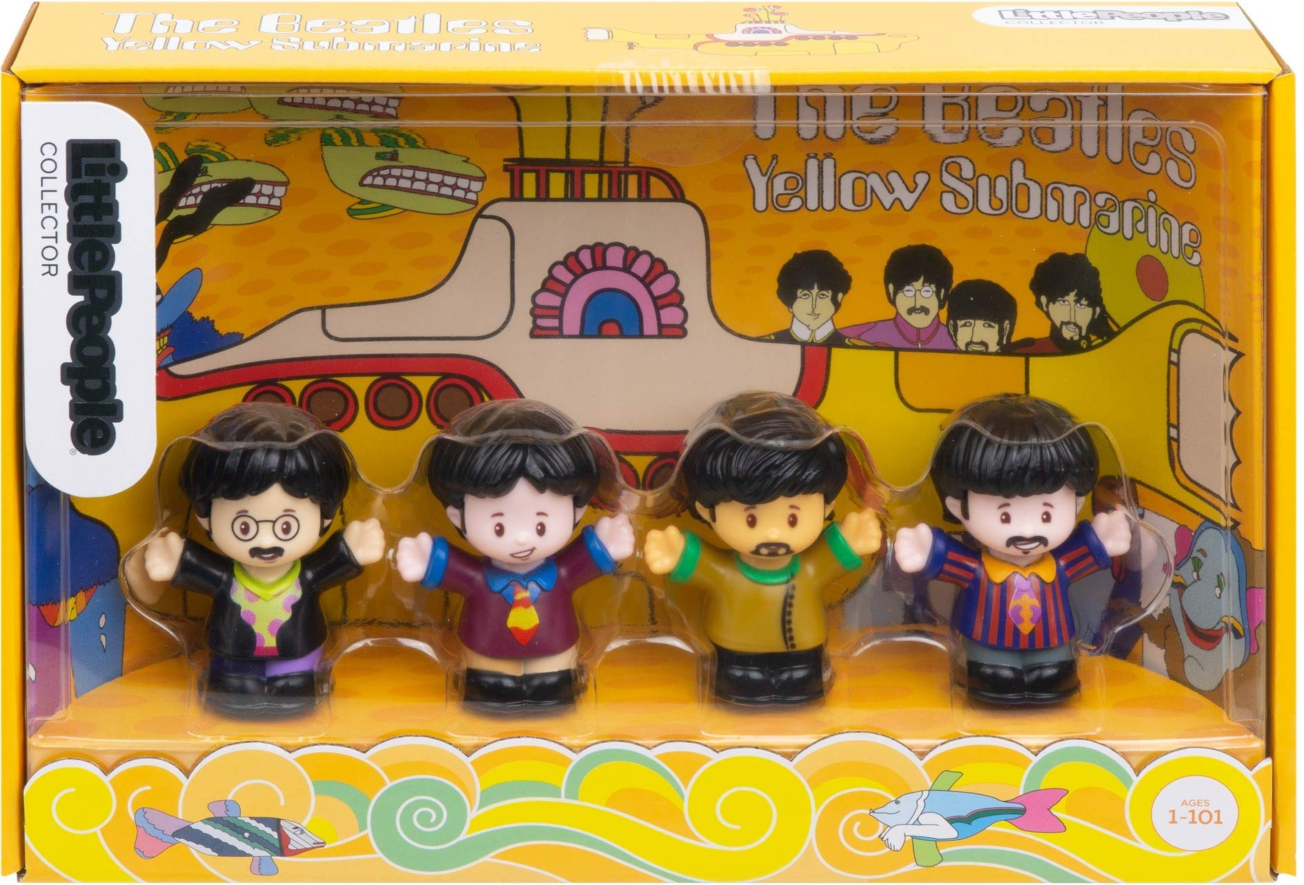 Fisher-Price The Beatles Yellow Submarine by Little People by Fisher-Price