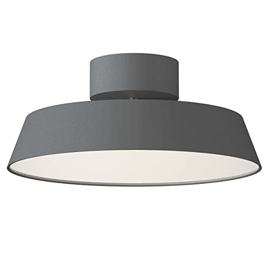 nordlux alba led adjustable tilt semi flush ceiling light grey