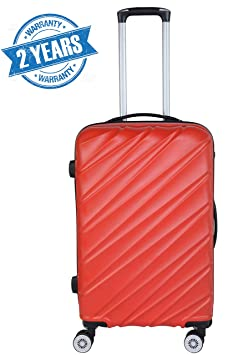 3G Combat 8018 Series ABS 20-inch Red Hard Sided Luggag Trolley Suitcase