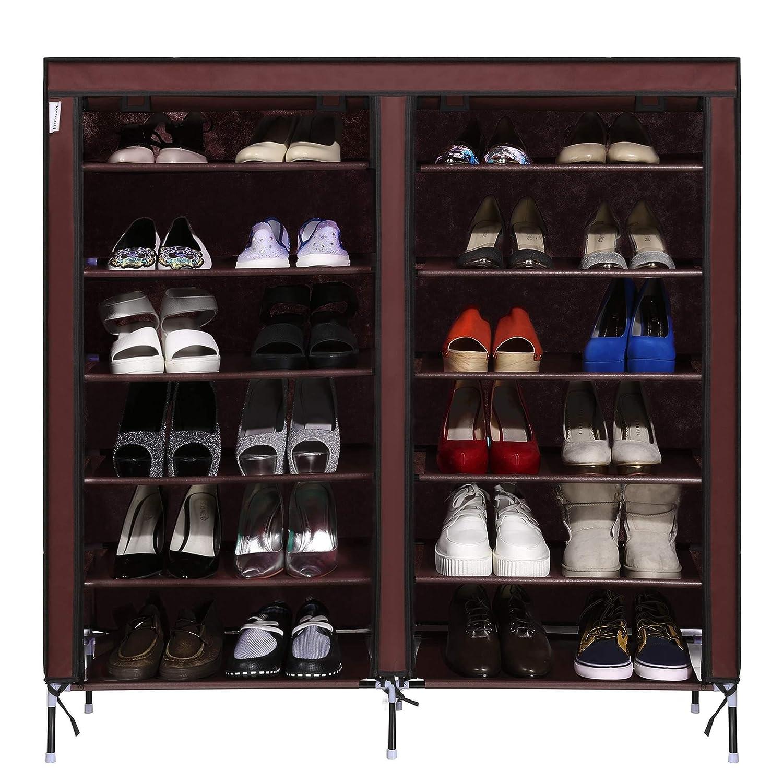 9-tierポータブル靴ラック27-pair大容量靴ストレージオーガナイザー、4色Watreproof不織布カバー B077ZQFTNH 11563 C1 C1