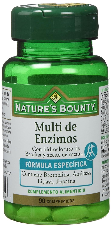 Natures Bounty Multi Enzimas con Hidrocloruro de Bataína y Aceite de Menta - 90 Comprimidos: Amazon.es: Salud y cuidado personal