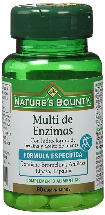Natures Bounty Multi Enzimas con Hidrocloruro de Bataína y Aceite de Menta - 90 Comprimidos