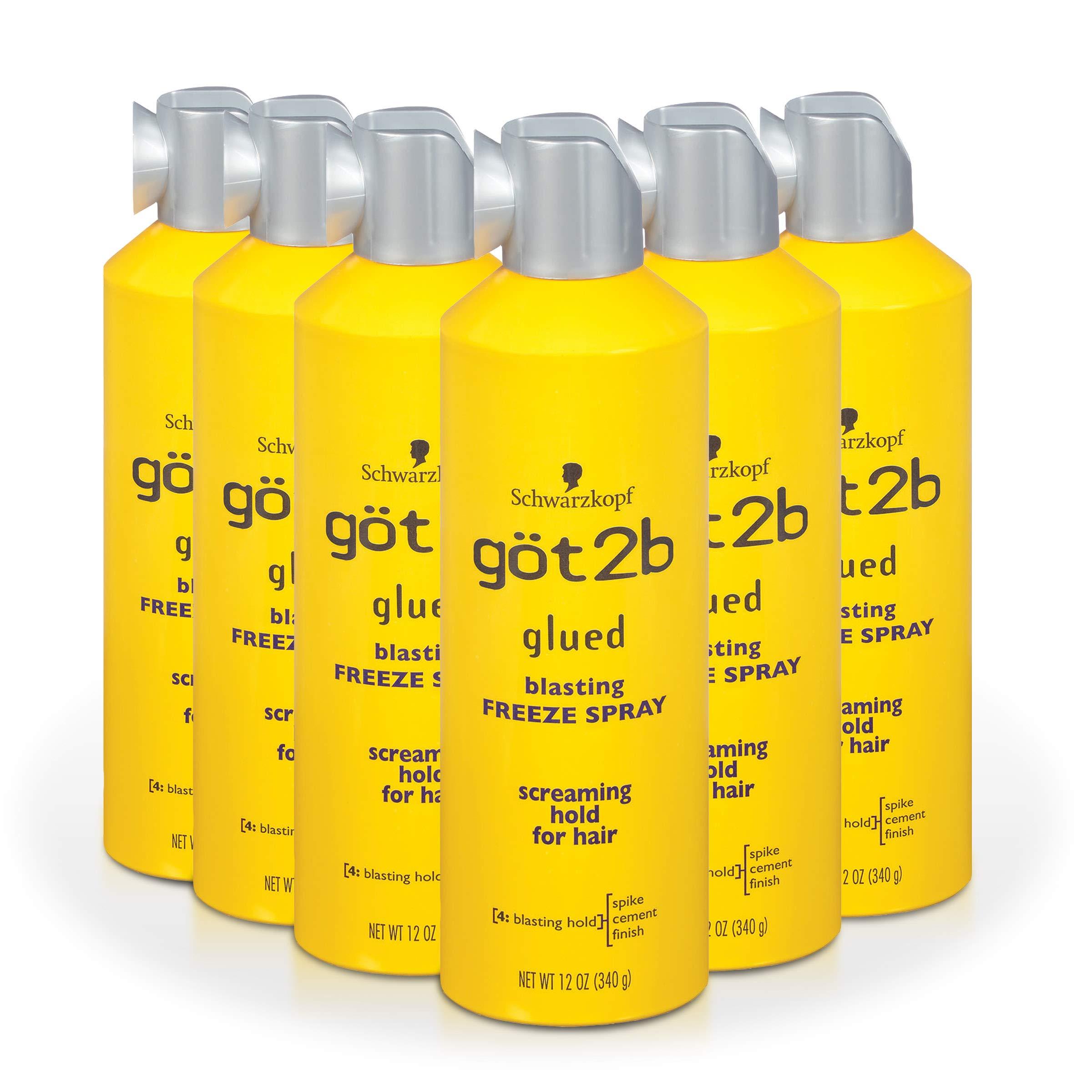 Got2b Glued Blasting Freeze Hairspray Aero, 12 Ounce (Pack of 6)