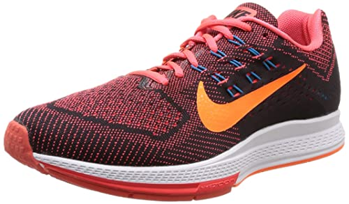 ba7a4a373e8153 ... NIKE Air Zoom Structure 18 Mens Bright Crimson Total Orange Black  Running Sneakers ...