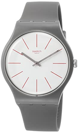 Swatch Originals Greensounds White Dial Silicone Strap Unisex Watch SUOC107