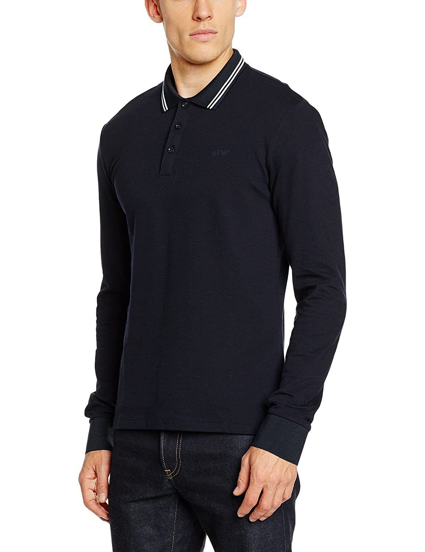 eedf8bee Armani Jeans Modern Fit Long Sleeve Polo Shirt