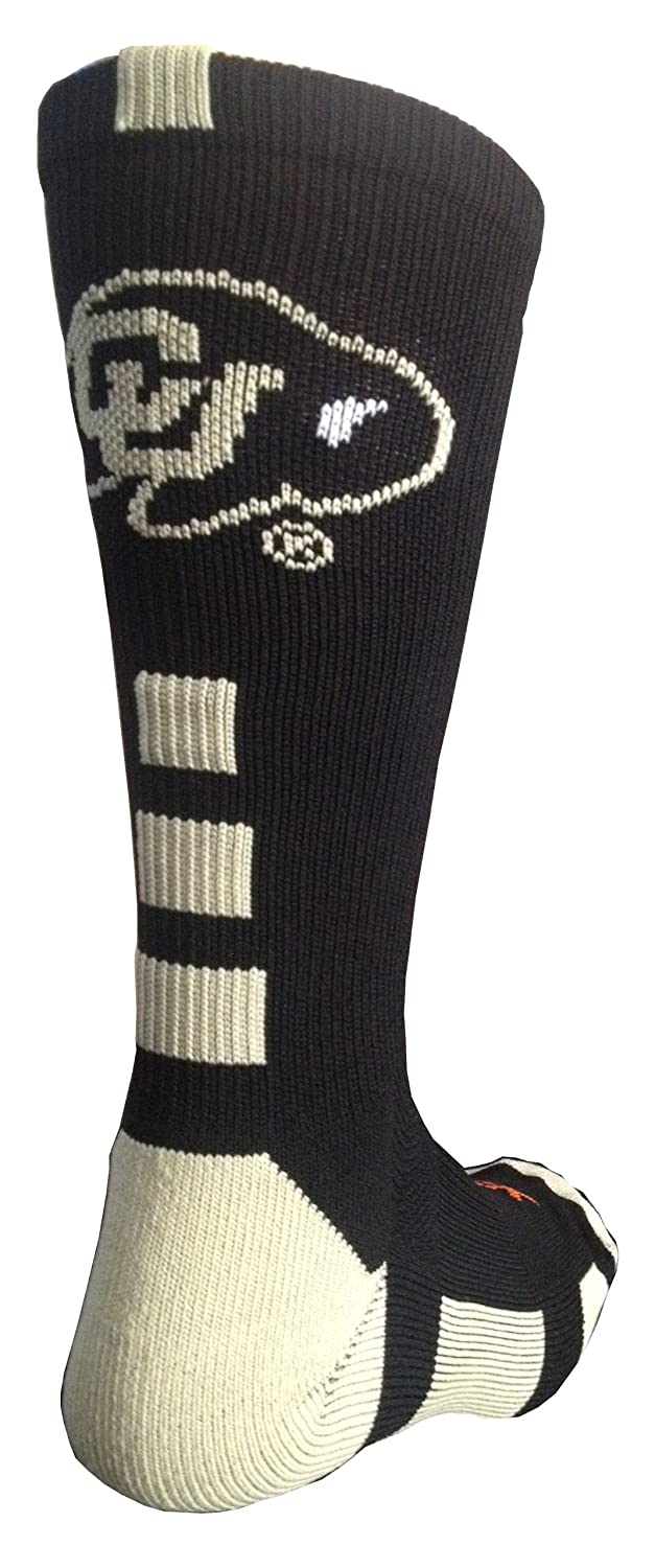 TCK NCAA Colorado Buffs Baseline Crew Socks