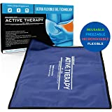 Active Therapy Hot and Cold Gel Pack - Ultra Flexible Ice Packs for Injuries, Pain & Muscle Aches w/Heat for Maximum Relief & Comfort