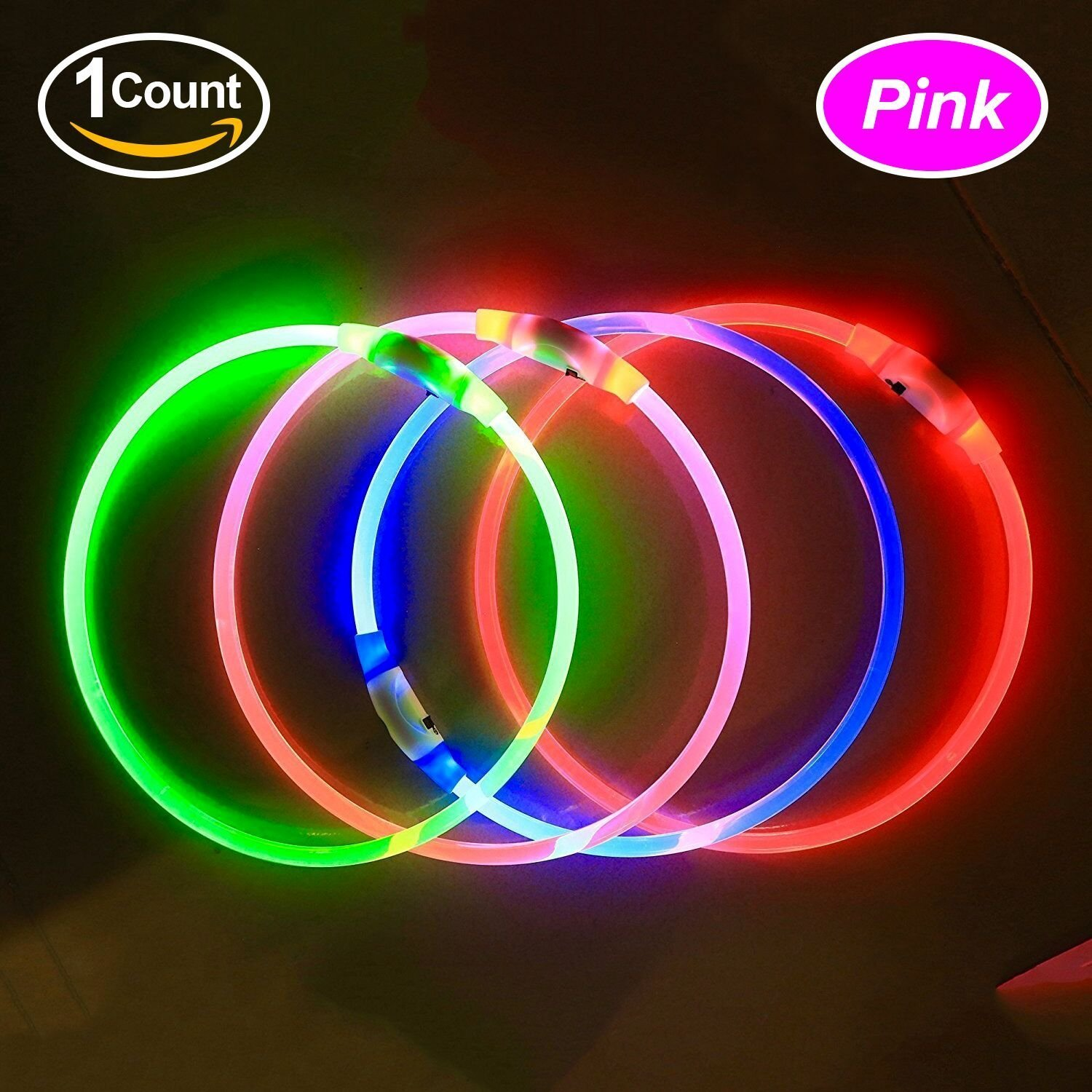 light up collar pet to led any dog size auraglow itm leash flashing safety cut