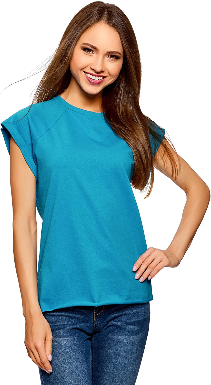 oodji Ultra Womens Basic Cotton T-Shirt