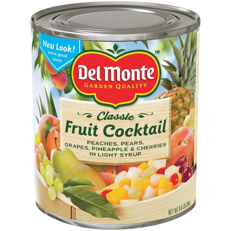 Del Monte, Fruit Cocktail, 106oz Can (Restaurant Size)