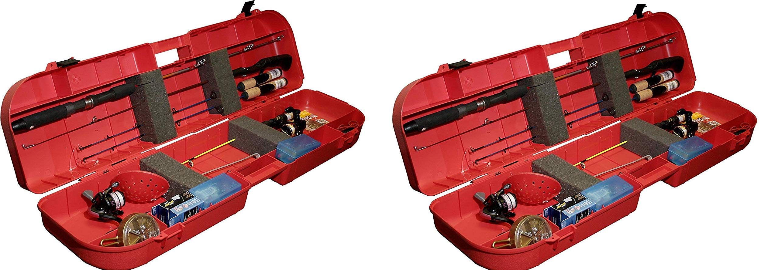 MTM Ice Fishing Rod Box (Red) (Pack of 2)