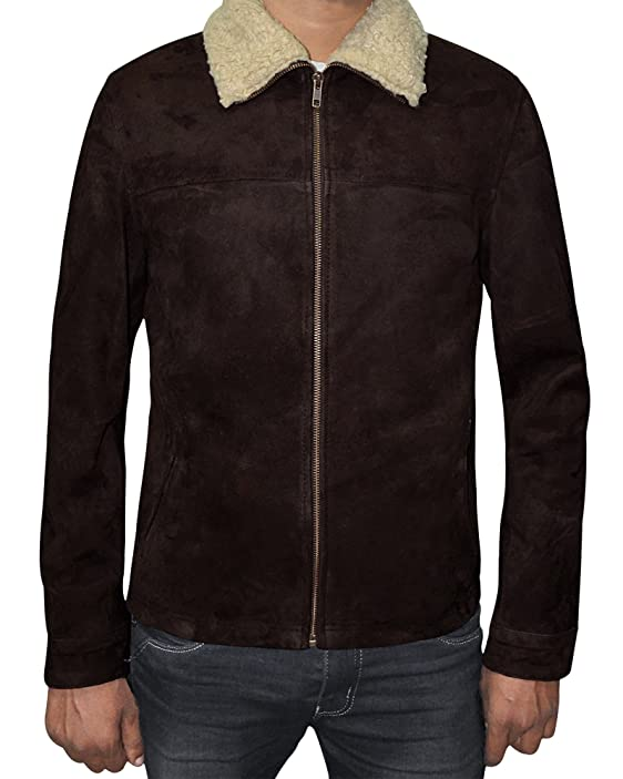 The Walking Dead Rick Grimes Brown Suede Leather Jacket