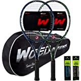 """WOED BATENS Adult 2 Player Tennis Racket Perfect for Beginner and Professional Players, 27"""" Speed Tennis Racquet Include 2 Ov"""