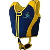 SW1M SAFE Swim Vest ◆ Premium Boys And Girls Neoprene Fixed Float Buoyancy Jacket With Unique Safety Strap ◆Toddlers Child's Kids Children's Swimming Training Aid