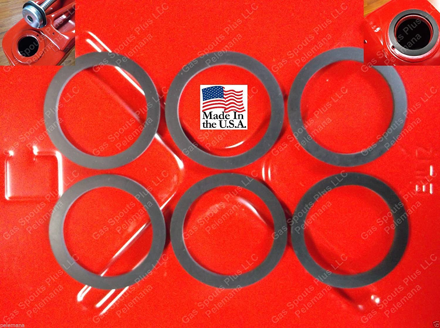 6 Jerrycan Spout Gaskets Gas Fuel Can Gallon 20L Military Army Rubber GSKT 6