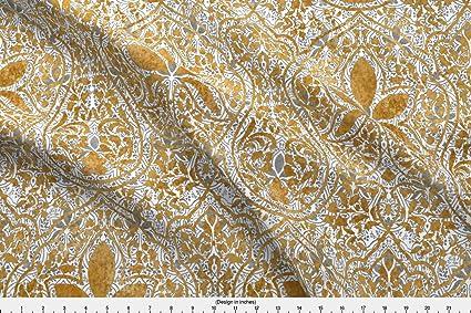 Amazon com: Spoonflower Indian Fabric - Indian Persian Batik