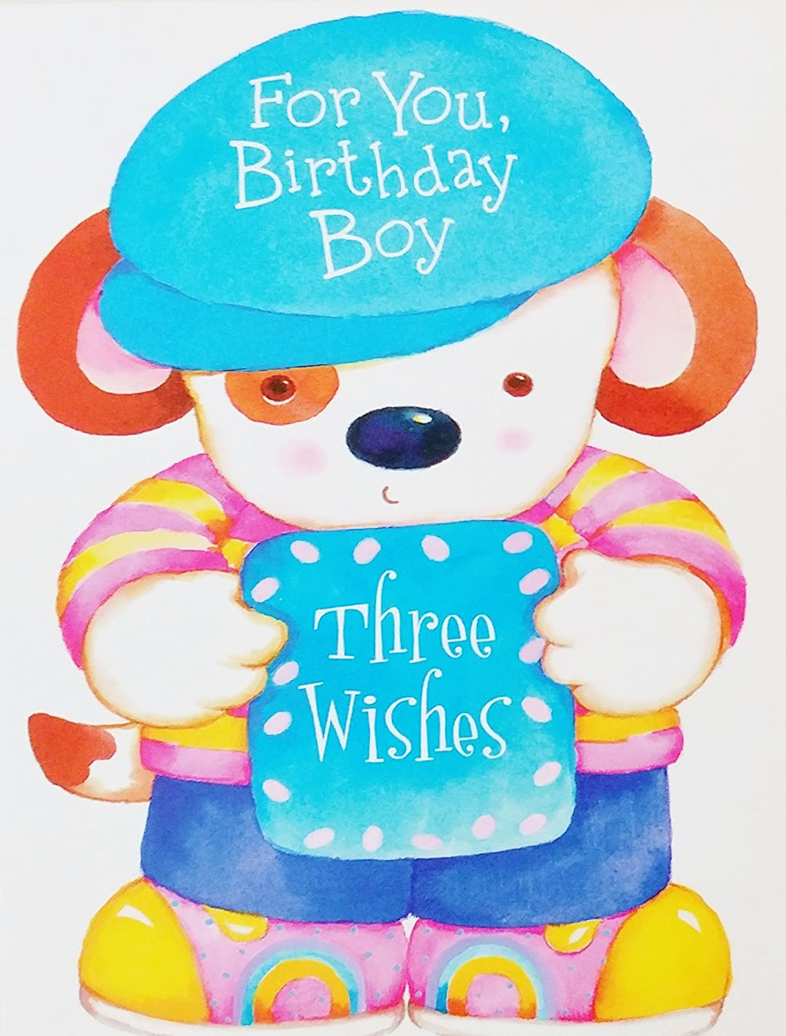 Amazon For Boy Happy 3rd Birthday Greeting Card Wpuppy Dog