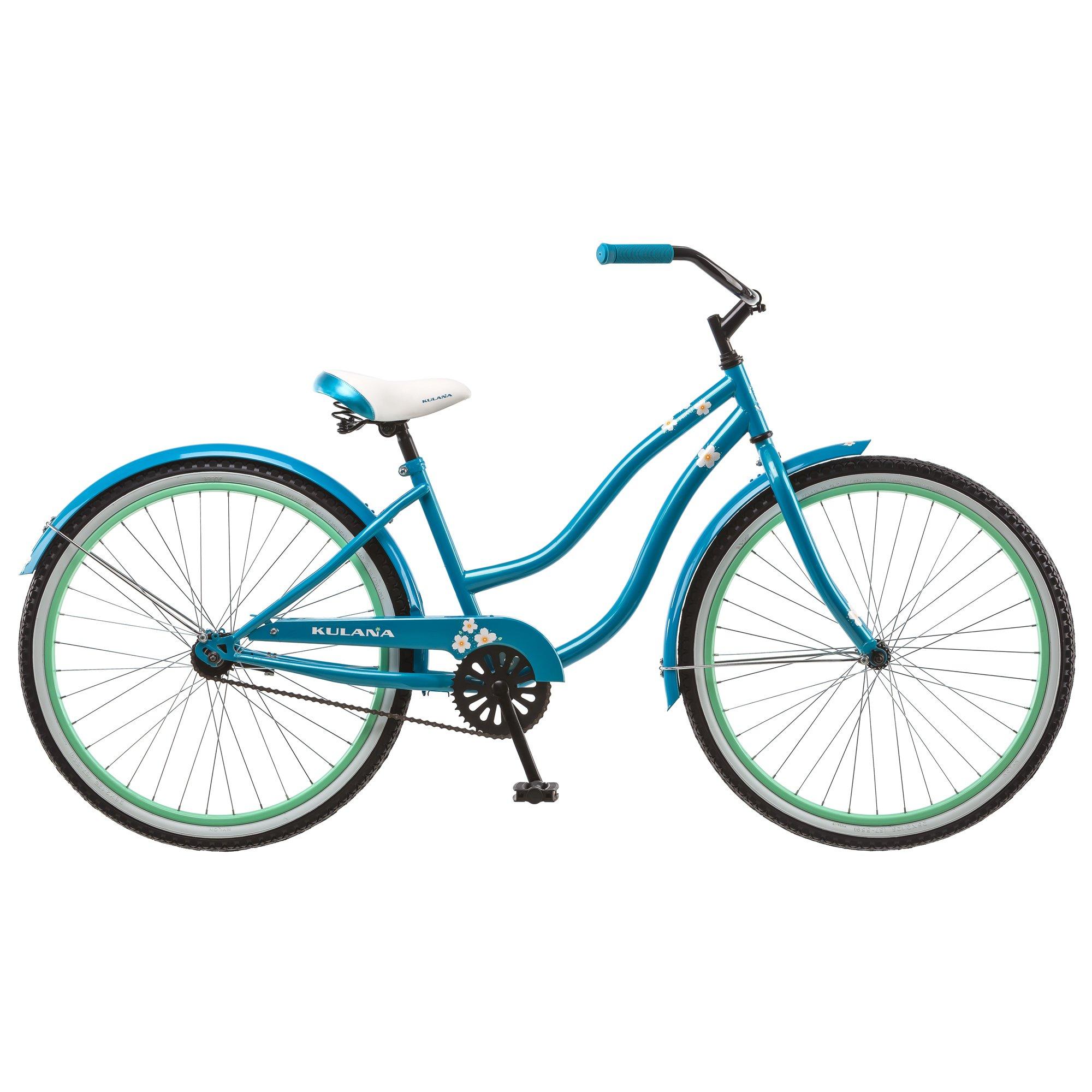 Kulana Women's Cruiser Bike, 26-Inch, Blue