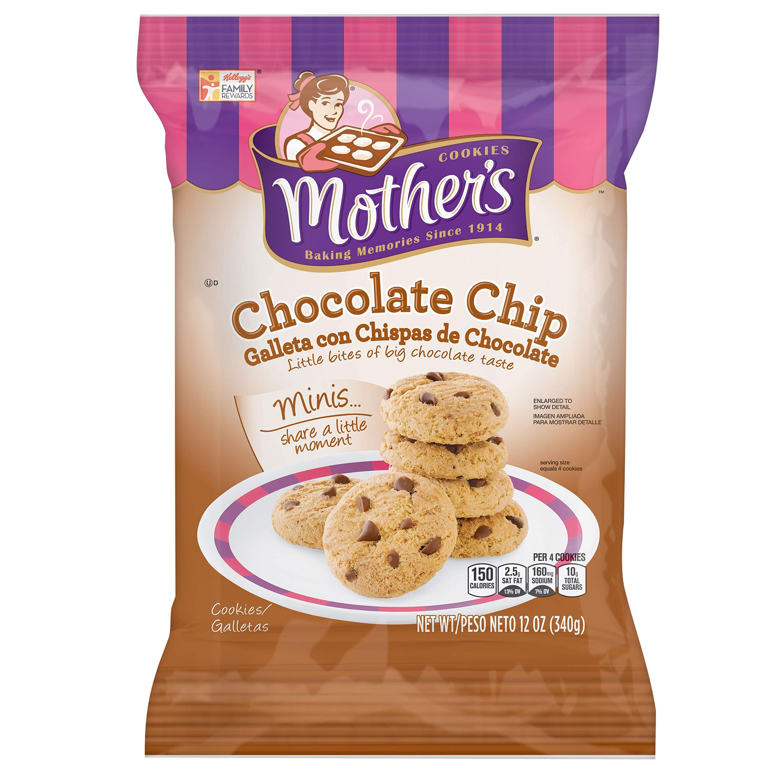 Mother's Cookies, Minis Chocolate Chip, 12 oz Bag