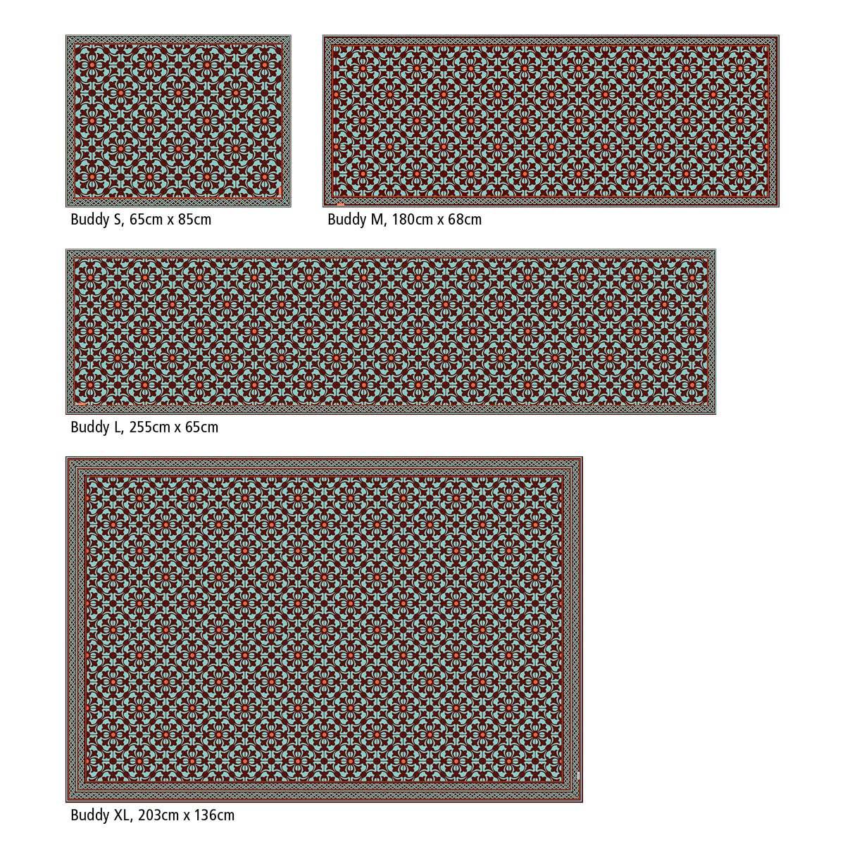 Myspotti - Buddy Chadi Rutschfeste Bodenschutzmatte Bodenschutzmatte Bodenschutzmatte aus Vinyl Badematte Küchenläufer Wohnzimmer Deko (180 x 68 cm) B07H9DB6SS Lufer 1e1b65