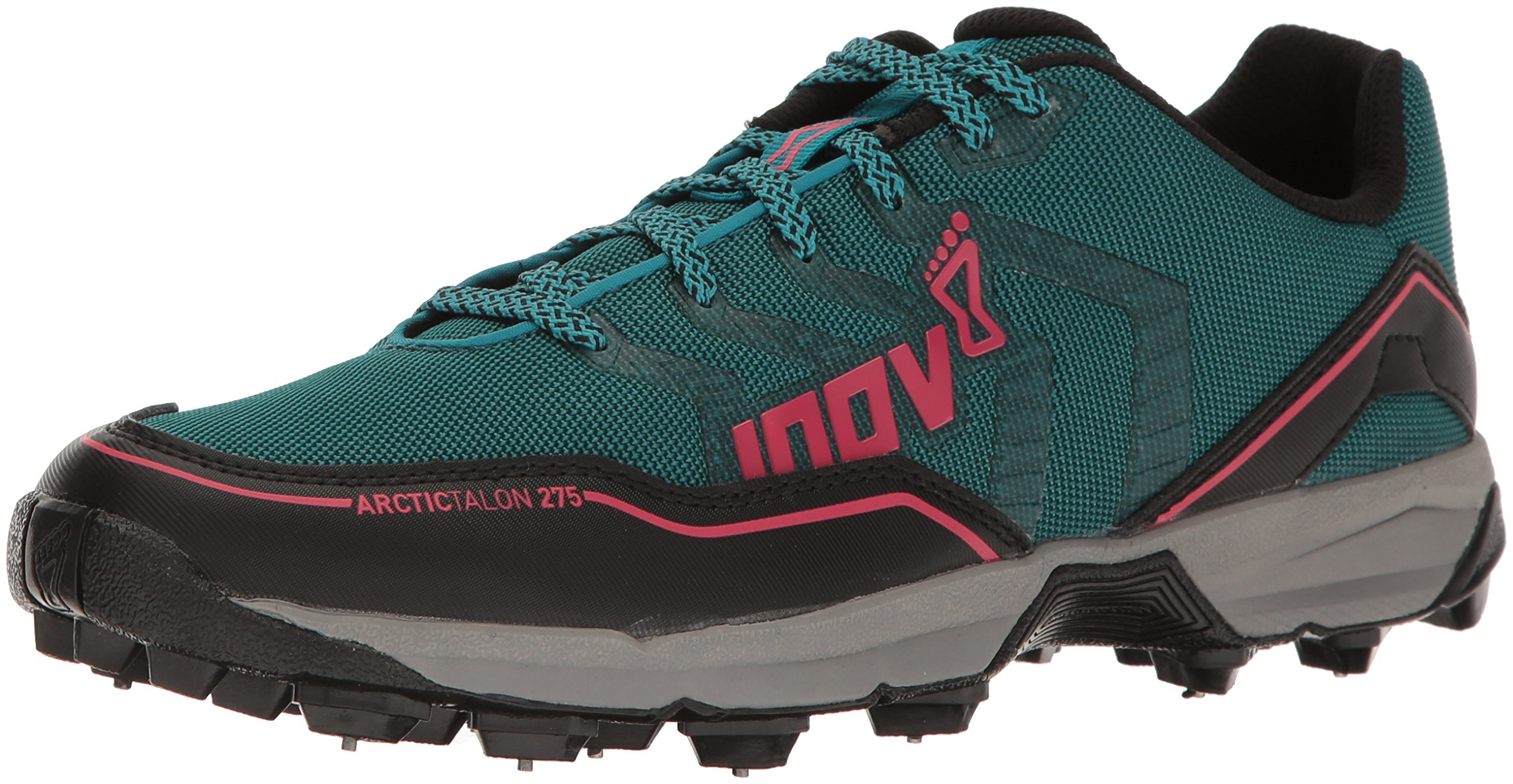 Inov-8 Women's Arctic Talon 275 Trail Runner, Teal/Black/Pink, 7 C US